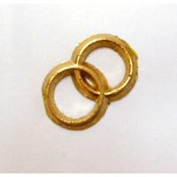 Verzierwachs Ringe gold D=15x28 mm