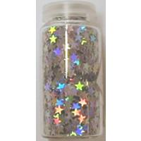 Hologramm- Sterne 4g 3mm silber