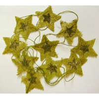 Sternenkette  Naturmaterial ca. 4x4cm hellgrün