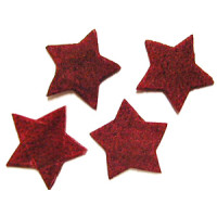 Streuteile  Sterne  SB 4 Stück w.rot