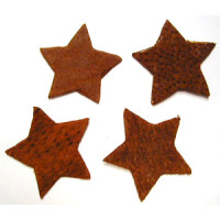 Streuteile  Sterne  SB 4 Stück cognac