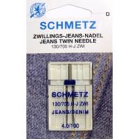 Nähmaschinennadeln Jeans Doppelnadel  4,0/100/SB