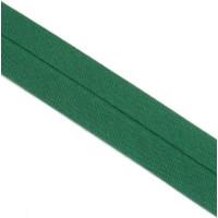 Schrägband gefalzt 100 % Co 40/20 mm grün