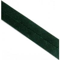 Schrägband gefalzt 100 % Co 40/20 mm  tanne