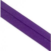 Schrägband gefalzt 100 % Co 40/20 mm  violett