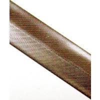 Schrägband Metall gefalzt 100 % PES 40/20 mm gold