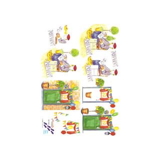 Geburtstag 3D Bogen Le Suh A4