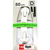Opti RV Zweiwege teilbar P60/50cm fb. 0009 weiss