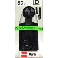 Opti RV-Zweiwege teilbar P60/50cm fb. 0000 schwarz