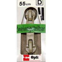 Opti RV-Zweiwege teilbar P60/55cm fb. 0886 beige