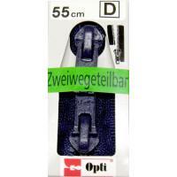 Opti RV-Zweiwege teilbar P60/55cm fb. 0210 blau