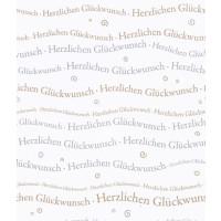 Herzl. Glückwunsch 250g/A4 Schriftzug gold/silber