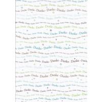 Danke 250g/A4 Schriftzug türkis/braun
