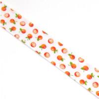Schrägband gefalzt 100% Co 40/20 mm Mandarinen