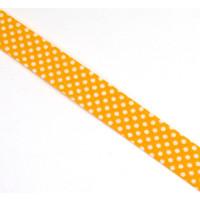 Schrägband gefalzt 100% Co 30/15 mm kl. Punkte...
