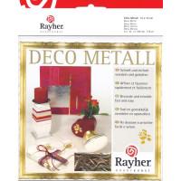 Design-Metall blau/gold Blattgold 14x14cm