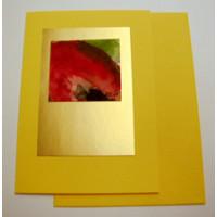 Aquarellkarte A6 sonnengelb Blüten