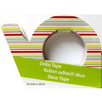 "Deko Tape, Motiv  ""Streifen"" Dispenser, 1,5 cm..."