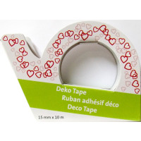 Deko Tape, Motiv Herzen 1 Dispenser, 1,5 cm x 10 m