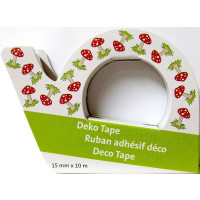 Deko Tape, Motiv Pilz Dispenser, 1,5 cm x 10 m