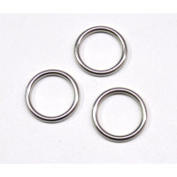 Metall - Ringe fb. silber 15mm Stück