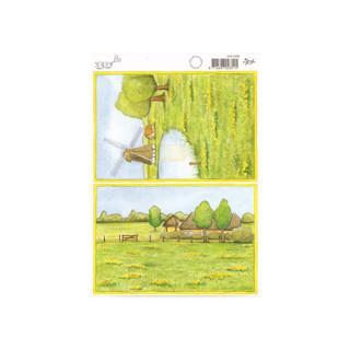 3D Bogen Le Suh A5, Hintergrundbild Landleben