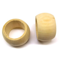 Holz-Servietteninge natur D= 5 x 2,5 cm