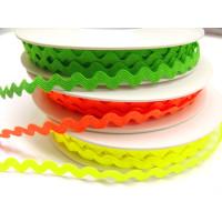 Zackenlitze 8 mm neon grün