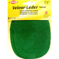 Kleiber Velour-Leder 13x10cm granny/grün 2 Stück