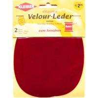 Kleiber Velour-Leder 13x10cm rot 2 Stück