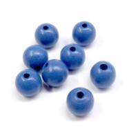 Holzperlenl 10 mm  Stck. blau