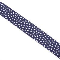 Schrägband gefalzt 100% Co 20/10 mm Muster blau/weiss