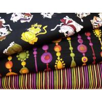 Spice Cats schwarz/bunt Muster