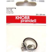 Schlüsselring oval 20 x  25 mm platin mit Kette