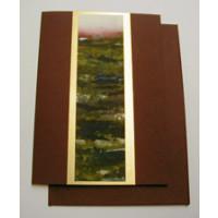 Aquarellkarte A6 bordeaux/gold Landschaft
