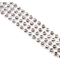 Perlen/Pailetten-Band silber 2 cm breit