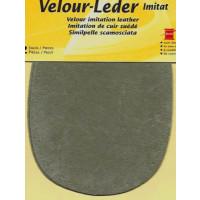Kleiber Velour-Leder 13x10cm blassgrün 2 Stück