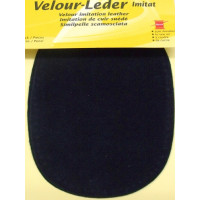 Kleiber Velour-Leder 13x10cm nachtblau 2 Stück