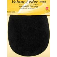 Kleiber Velour-Leder 13x10cm anthrazit 2 Stück