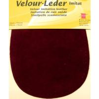 Kleiber Velour-Leder 13x10cm pflaume 2 Stück