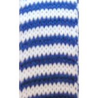 Strickschlauch 2,2 cm blau/weiss