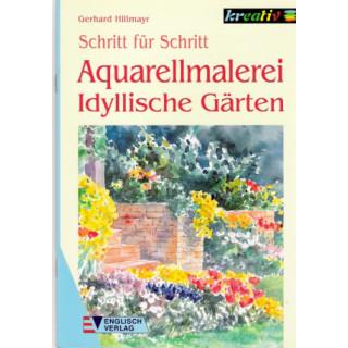 Idylliche Gärten Aquarellmalerei