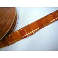 W. Band _Jade_ ocker-gold kariert Br. 15mm