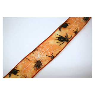 Halloweenspinnenband m. Draht  50mm