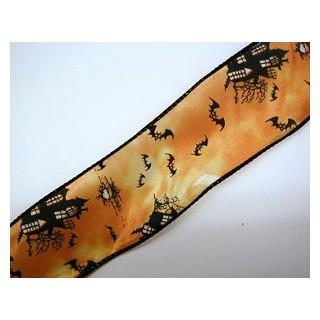 Halloween Geisterschlossband m. Draht  50mm