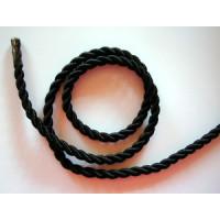Satinkordel 6mm schwarz