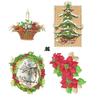 3D Bogen Le Suh A5, Weihnachtsmotive