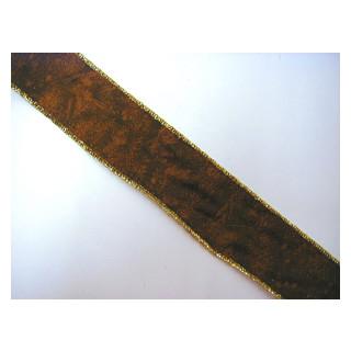 Drahtband braungemustert 4 cm