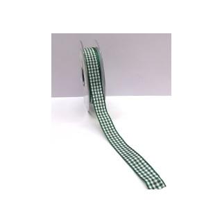 Karoband Vichy 15 mm grün