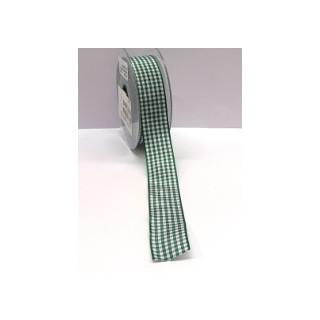 Karoband Vichy 25 mm grün